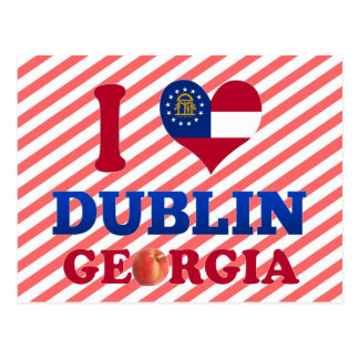 I Love Dublin, Georgia Postcard