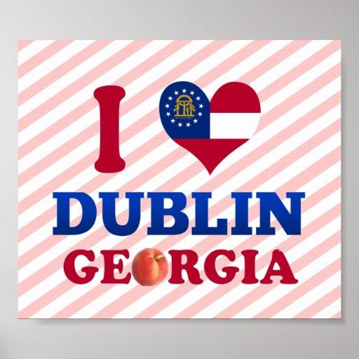 I Love Dublin, Georgia Print