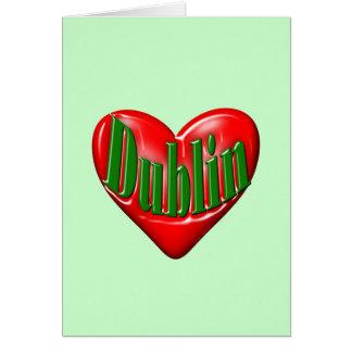 I Love Dublin Ireland Card