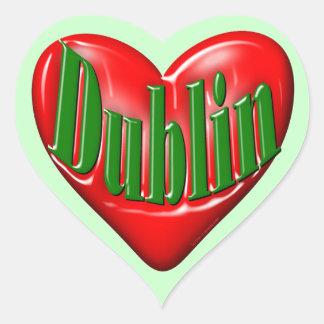 I Love Dublin Ireland Heart Sticker