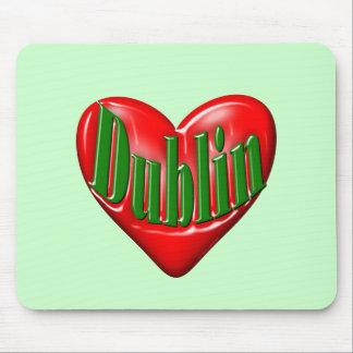 I Love Dublin Ireland Mouse Pads