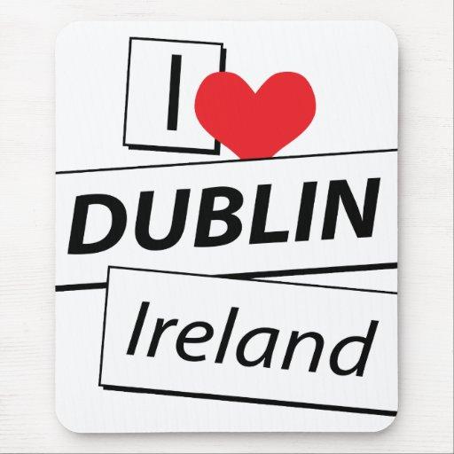 I Love Dublin Ireland Mousepad