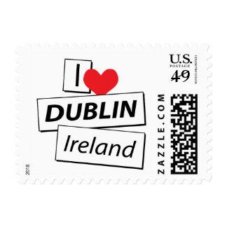 I Love Dublin Ireland Postage