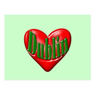 I Love Dublin Ireland Postcard
