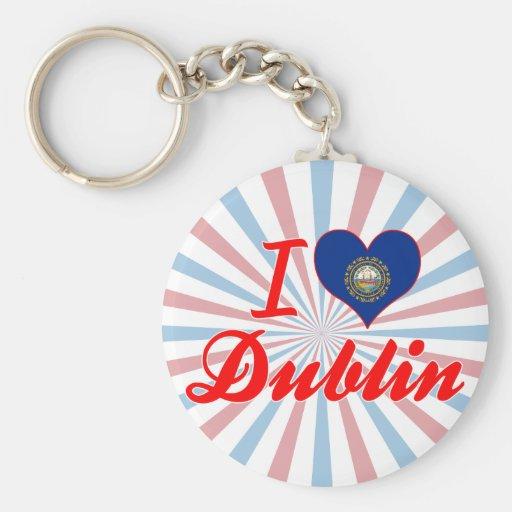 I Love Dublin, New Hampshire Keychains