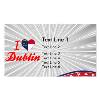 I Love Dublin, North Carolina Business Card Templates