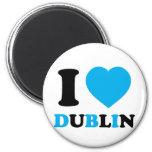 I Love Dublin Refrigerator Magnet