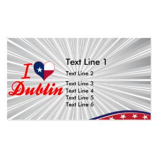 I Love Dublin, Texas Business Card Templates