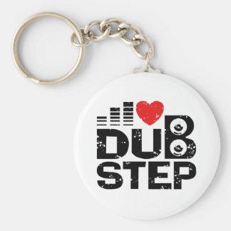 I Love Dubstep Basic Round Button Keychain