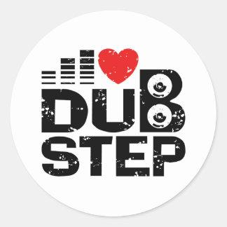 I Love Dubstep Classic Round Sticker