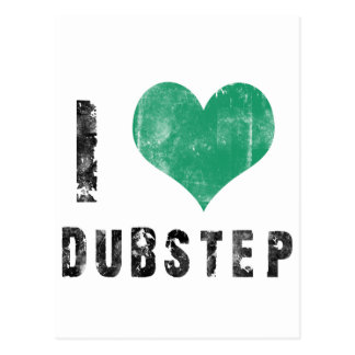 I Love Dubstep Postcard