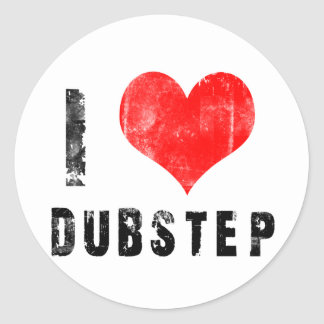 I Love Dubstep Round Stickers
