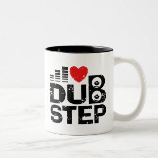 I Love Dubstep Two-Tone Coffee Mug