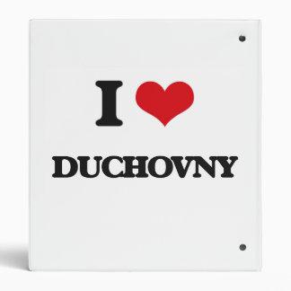 I Love Duchovny Vinyl Binder