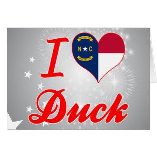 I Love Duck, North Carolina Greeting Card