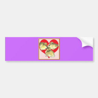 I Love Ducklings! Car Bumper Sticker
