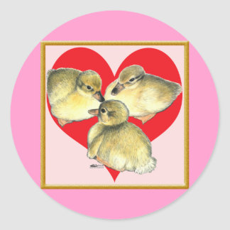 I Love Ducklings! Classic Round Sticker