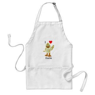 I love ducks adult apron