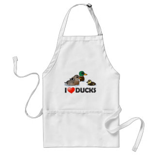 I Love Ducks Adult Apron