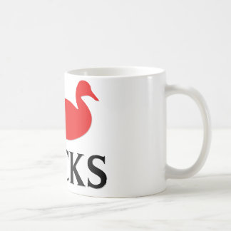 I Love Ducks Coffee Mug