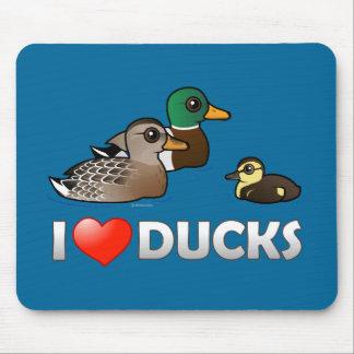 I Love Ducks Mouse Pad