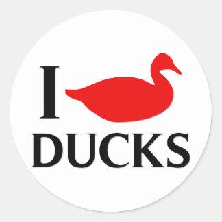 I Love Ducks Stickers