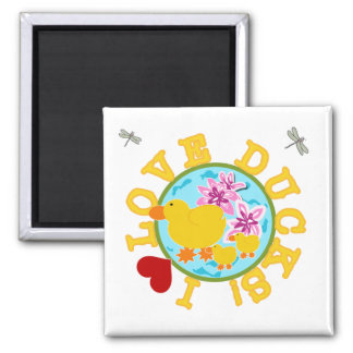 I Love Ducks Tshirts and Gifts Refrigerator Magnet