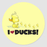 I Love Ducks Tshirts and Gifts Classic Round Sticker