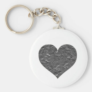I LOVE DUCT TAPE - DUCT TAPE HEART BASIC ROUND BUTTON KEYCHAIN