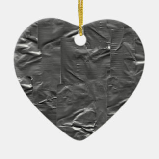 I LOVE DUCT TAPE - DUCT TAPE HEART CERAMIC ORNAMENT