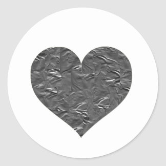 I LOVE DUCT TAPE - DUCT TAPE HEART CLASSIC ROUND STICKER