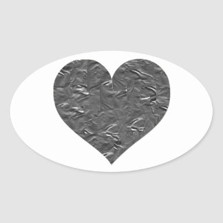 I LOVE DUCT TAPE - DUCT TAPE HEART OVAL STICKER