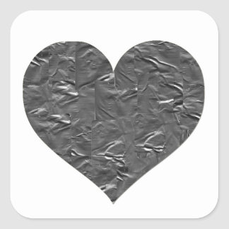 I LOVE DUCT TAPE - DUCT TAPE HEART SQUARE STICKER