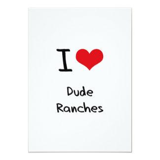 I Love Dude Ranches Custom Invitations