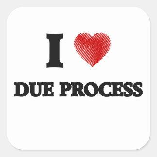 I love Due Process Square Sticker