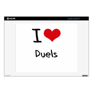 I Love Duels Decal For Laptop