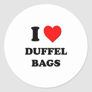 I Love Duffel Bags Stickers