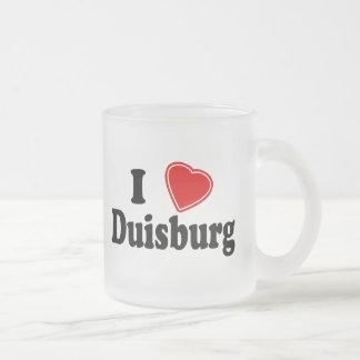 I Love Duisburg Frosted Glass Coffee Mug