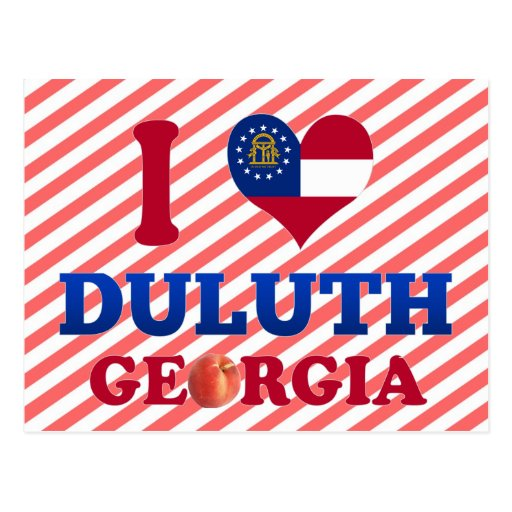 I Love Duluth, Georgia Postcard