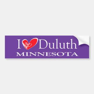 I Love Duluth Minnesota Bumper Sticker