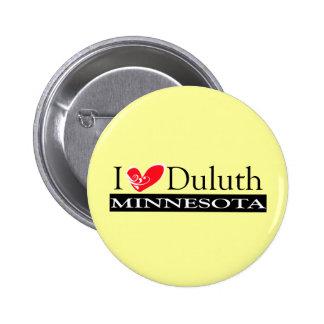 I Love Duluth Minnesota Pinback Button