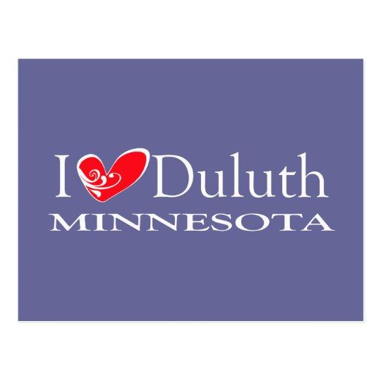 I Love Duluth Minnesota Postcard