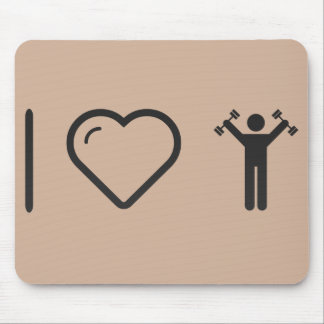 I Love Dumbell Exercises Mouse Pad