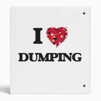 I love Dumping 3 Ring Binders