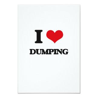 I love Dumping 3.5x5 Paper Invitation Card