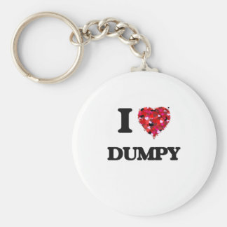 I love Dumpy Basic Round Button Keychain
