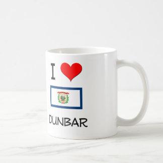 I Love Dunbar West Virginia Classic White Coffee Mug
