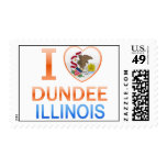 I Love Dundee, IL Postage Stamp