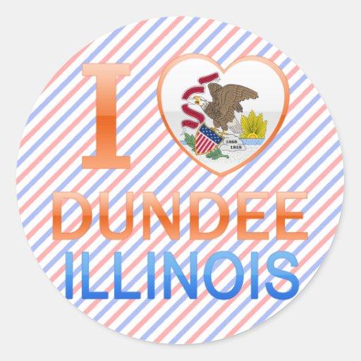 I Love Dundee, IL Round Sticker