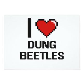 I love Dung Beetles Digital Design 5x7 Paper Invitation Card